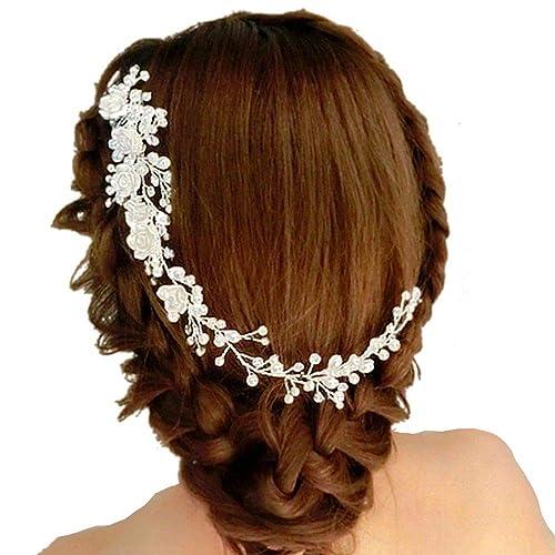 Glamour gioielli da sposa diadema perla fascia per capelli copricapo fascia  per capelli clip da sposa copricapo accessori per capelli b28426046e00