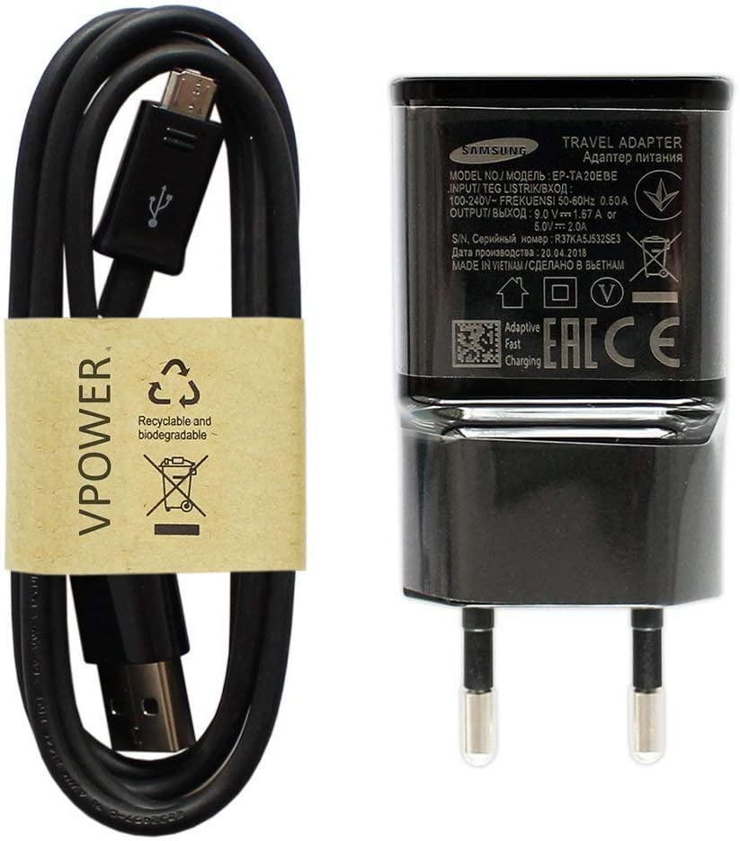 Chargeur Secteur Samsung EP TA20EBE Fast Charge Noir