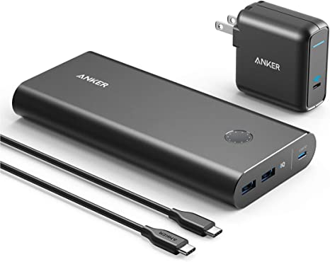 Anker PowerCore+ 26800 PD 45W with 60W PD Charger, Power Delivery Portable Charger Bundle for USB C Laptops, MacBook Air/Pro/Dell XPS/iPad Pro 2018, ...