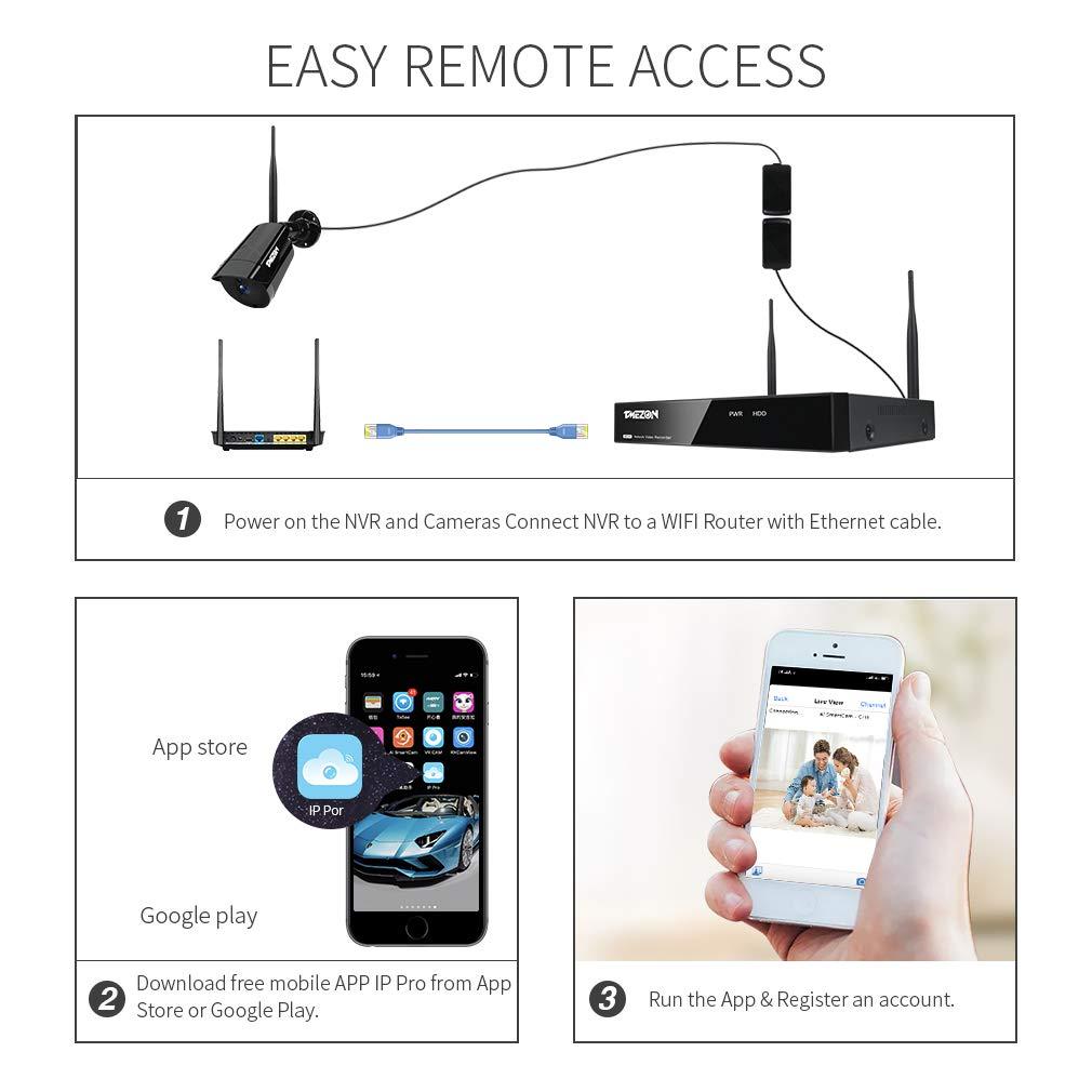 TMEZON High Resolution 1/3 AHD 2 0MP 1080P HD Indoor/Outdoor