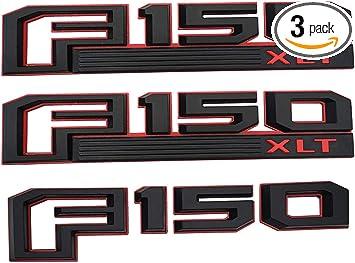Black 3D 150 Logo ABS OEM Rear Tailgate Emblem Badge Nameplate for 150