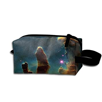 77f8c49583 Amazon.com   Pillars Of Creation Space Pencil Case Pouch Waterproof  Multi-purpose Storage Tote Tools Canvas Bag Cosmetic Makeup Bags With  Zipper And Hanging ...