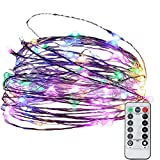 Christmas String Lights with Timer Function 39ft 100 LEDs Dimmable Decorative Lights 33ft Copper Wire Lighting for Indoor Outdoor Bedroom Patio Wedding Party(Multicolor)