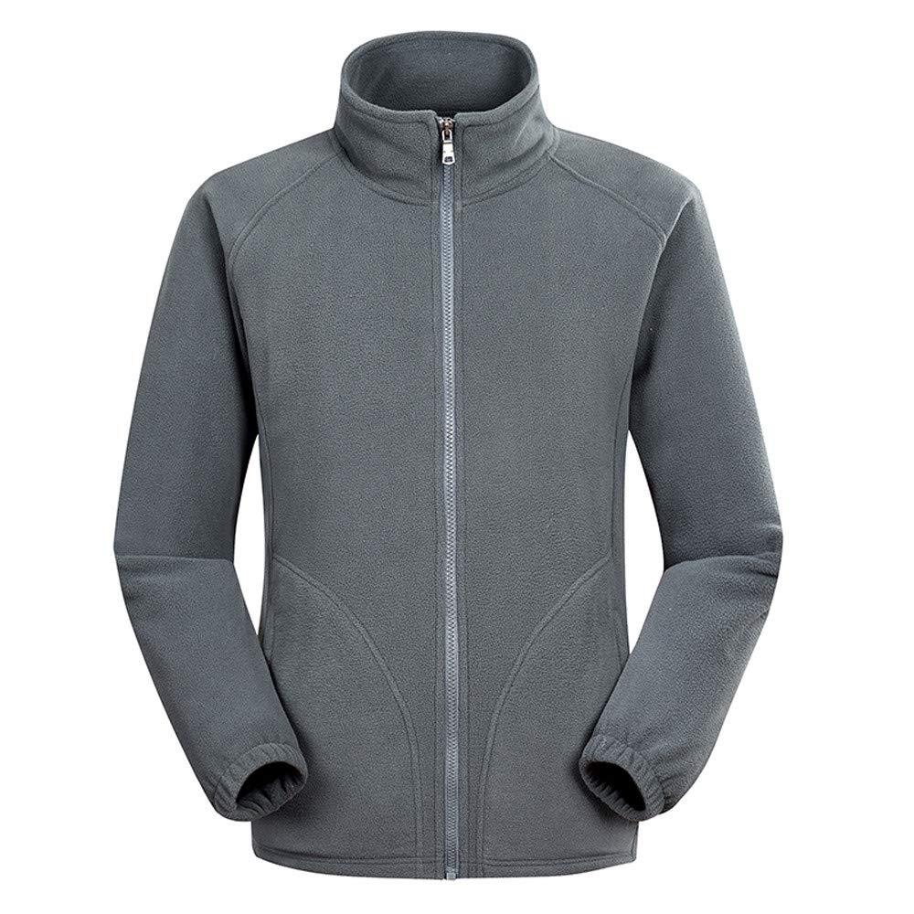 Internet-Chaqueta Polar para Hombre, Chaqueta Deportiva al Aire Libre, Costura en Color Liso, diseño de Cremallera,Costura de Color sólido,Multi-código ...
