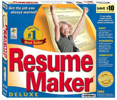 resume maker deluxe edition 9  small box