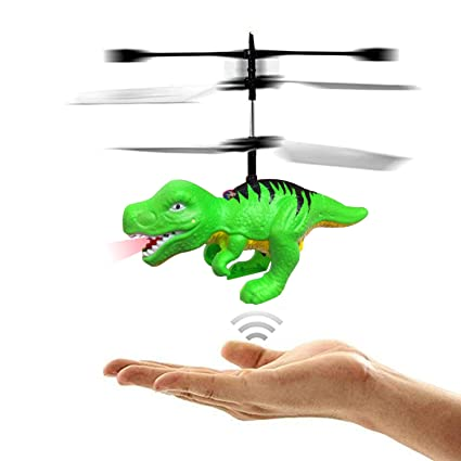 RC Flying Helicopter Dinosaurs Dragon Toys For 6 Year Old Boys Girls Kids Mini Remote