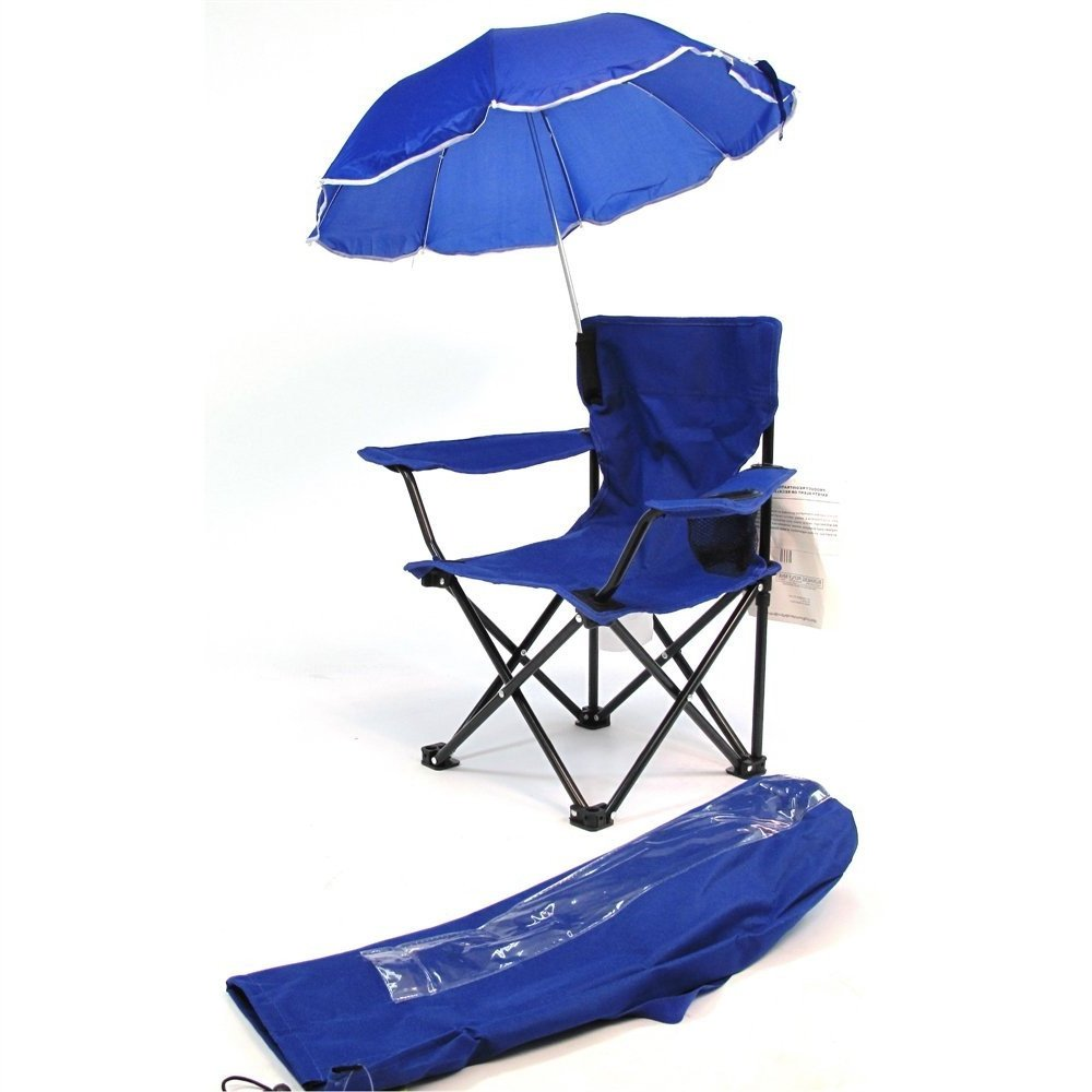 Kids Camp Chair Folding Portable Outdoor Cute Kid Beach Chair with Umbrella for Max Sun Protection & eBook by jn.widetrade.