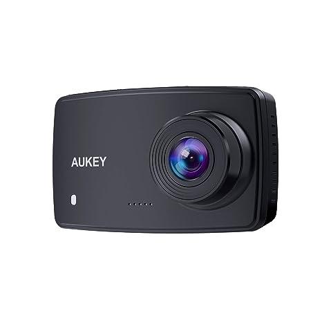 AUKEY Cámara de Coche, Dash Cam 1080P Full HD Cámara para Coche con Detección De Movimiento, Visión Nocturna, G-Sensor, Loop de Grabación, 2.7