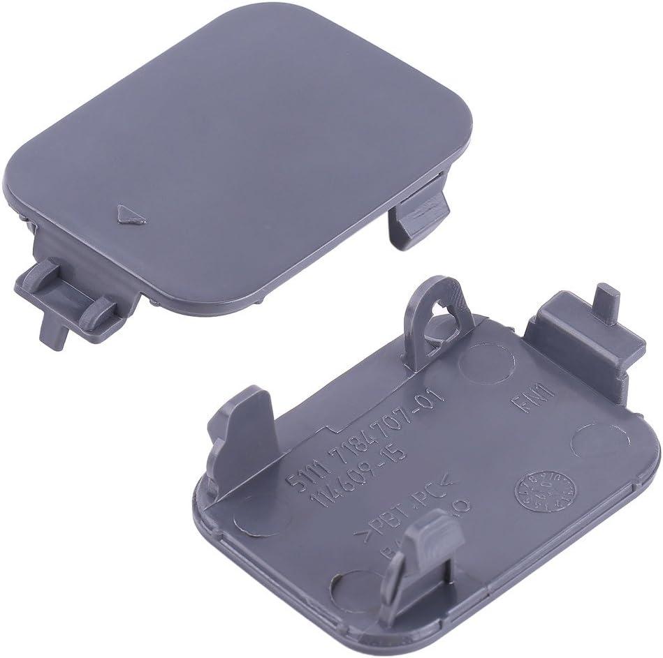 Terisass 51117184708 Front Bumper Tow Hook Cover Cap PBT and PC Material Tow Hook Eye Hole Cover Trim for E60 E61 5 Series 520d 520i 523li 525li 530li 2008 2009 2010