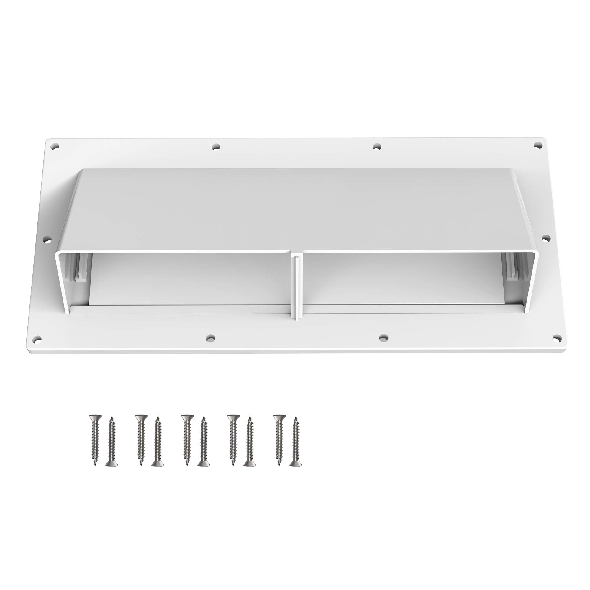 Kohree RV Range Hood Vent Exhaust Vent Cover, High Impact Resistance RV Range Hood Cover Stove Vent Cover with Lockable Clips for RV Mobile Home, Screws Included by Kohree