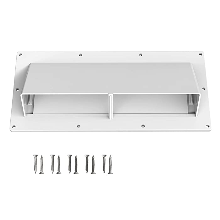 Kohree RV Range Hood Vent Exhaust Vent Cover, High Impact Resistance RV Range Hood Cover Stove Vent Cover with Lockable Clips for RV Mobile Home, Screws Included