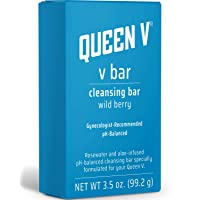 Queen V Wild Berry V Bar | Rosewater and Aloe Infused Cleansing Bar | pH Balanced | 3.5 Ounce