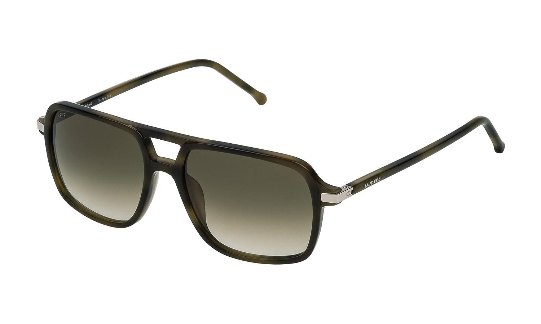 Loewe SLW973M55092I Gafas de sol, Shiny Green Havana, 55 ...