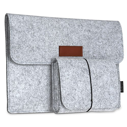 Laptop Sleeve, dodocool 12 Inch Felt Sleeve Case Protective Bag with Mouse Pouch for 12