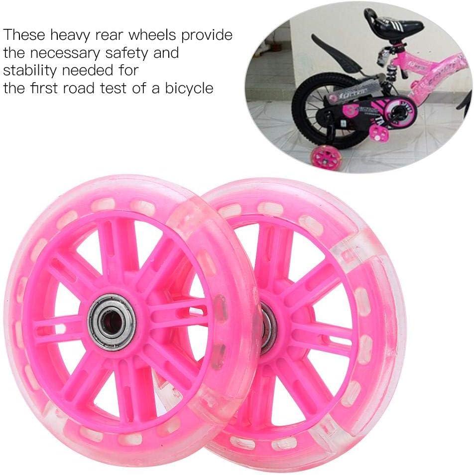 "LED Flash Children Bicycle Stabilisers Kids Training Cycle Wheel For 12-20/"" Bike"