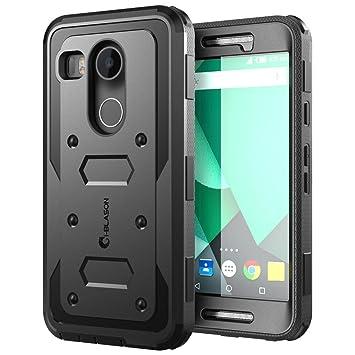 Carcasa resistente iBlason para NEXUS 5X de doble capa, protección híbrida de cuerpo entero con cubierta frontal y protector de pantalla integrado, ...