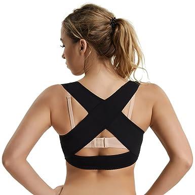 593bd6d10c7 Humpback Posture Corrector Tops Shapewear for Women Compression Breast Up  Cross Back Support (Black