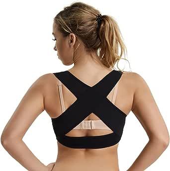 Back Support Bra for Women Shapewear Tops X Strap Vest Chest Brace Up Humpback Posture Corrector