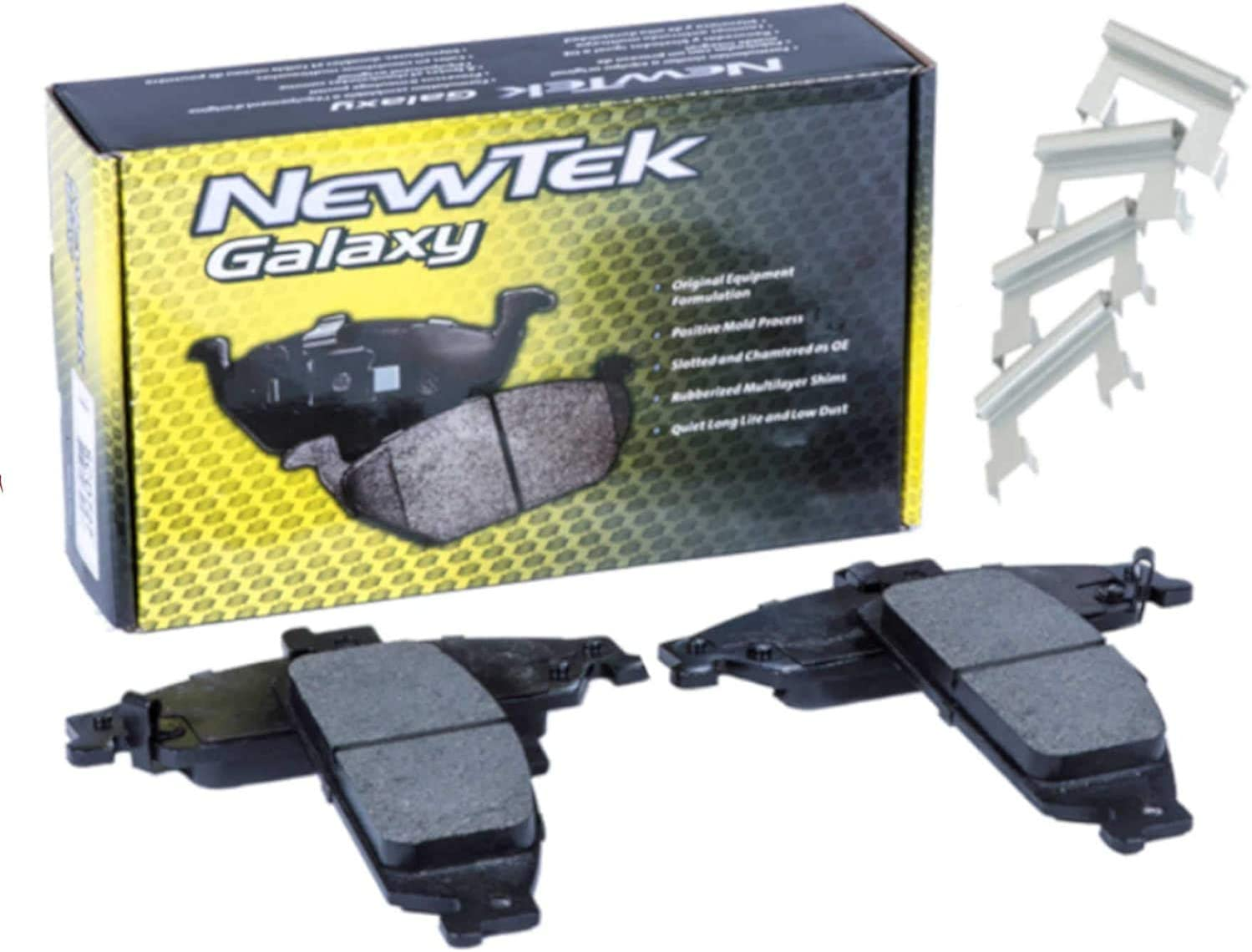 09-17 Dodge Challenger 06-16 Dodge Charger 08-09 Dodge Caliber 13-14 Chrysler 200 05-18 Chrysler 300 NewTek SCD1058H Ceramic Brake Pads with Hardware,Front Fit:05-08 Dodge Magnum