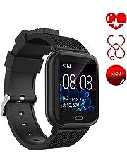 Smartwatch ayete Fitness Tracker con frequenza cardiaca Monitoraggio della pressione sanguigna Health Sport Watch Orologio da polso IP67 impermeabile Telecamera remota Smart Wristband (nero)
