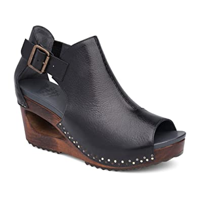 Dansko Women's Sable Black Tumbled Calf Sandal 39