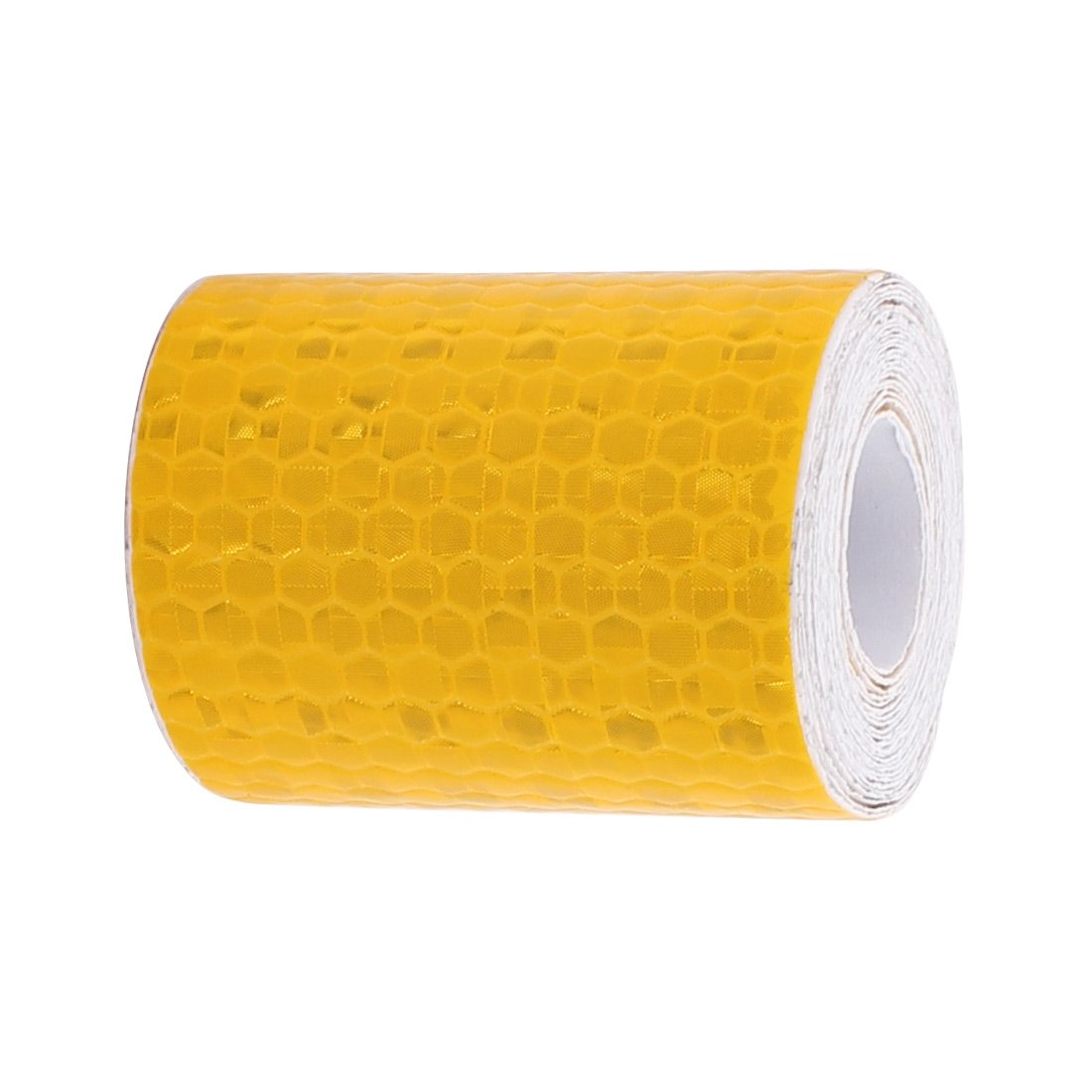 uxcell Yellow Honeycomb Reflective Conspicuity Tape Warning Tape 5cm Width 2 Meters Length