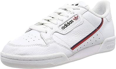adidas Continental 80, Sneaker Mens, Footwear White/Scarlet/Collegiate Navy, 49 1/3 EU: Amazon.es: Zapatos y complementos