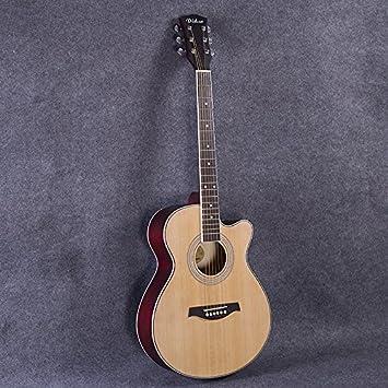 Wxin Folk Guitar Folk Guitar Guitar Wood Color Amazon Co Uk