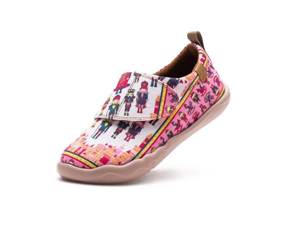 UIN Kid's Puppets Painted Canvas Fashion Shoe Pink (Little Kid) (8)