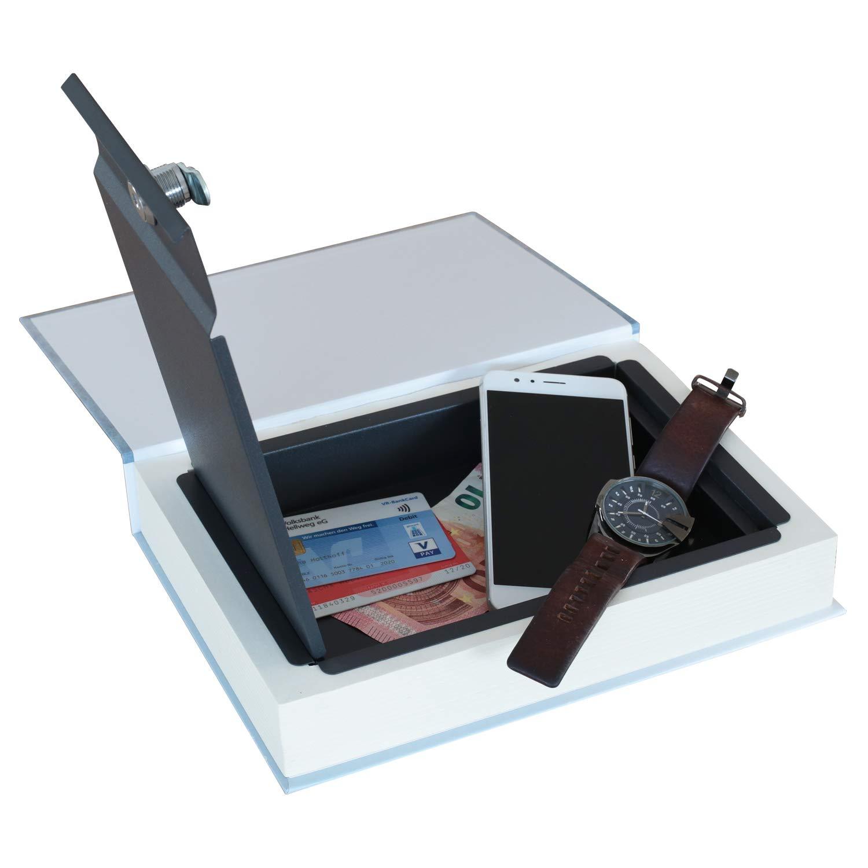 26,5 x 19 x 4,2 cm HMF 81001 Libro Portavalori Vere Pagine,Cookbook Cassetta portavalori