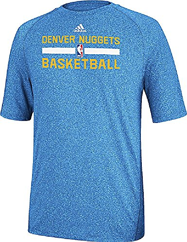 Denver Nuggets Heather Lt. Blue Climalite Practice Short Sleeve Shirt by Adidas – DiZiSports Store
