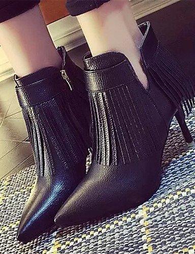 De Gray Negro Semicuero 5 Gris Tacón Stiletto Uk6 Mujer us5 Cn35 Gray Xzz us8 Cn39 Uk3 5 Puntiagudos Botas Casual Zapatos Eu36 Eu39 CwqpnPxF5