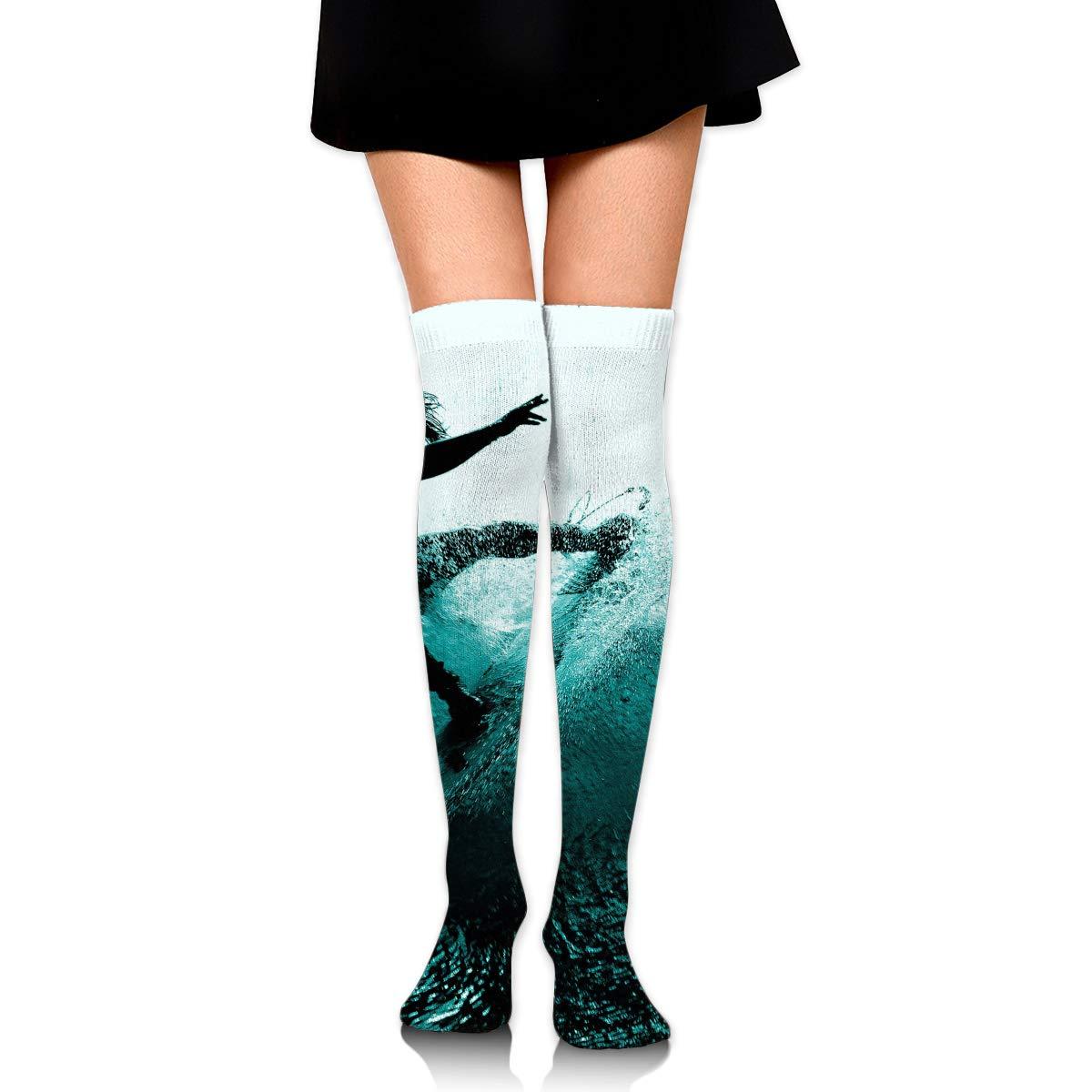 High Elasticity Girl Cotton Knee High Socks Uniform Summer Surfing Fun Women Tube Socks