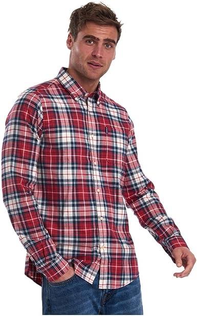 Barbour Camisa Cuadros Roja para Hombre L Rojo: Amazon.es: Ropa y accesorios