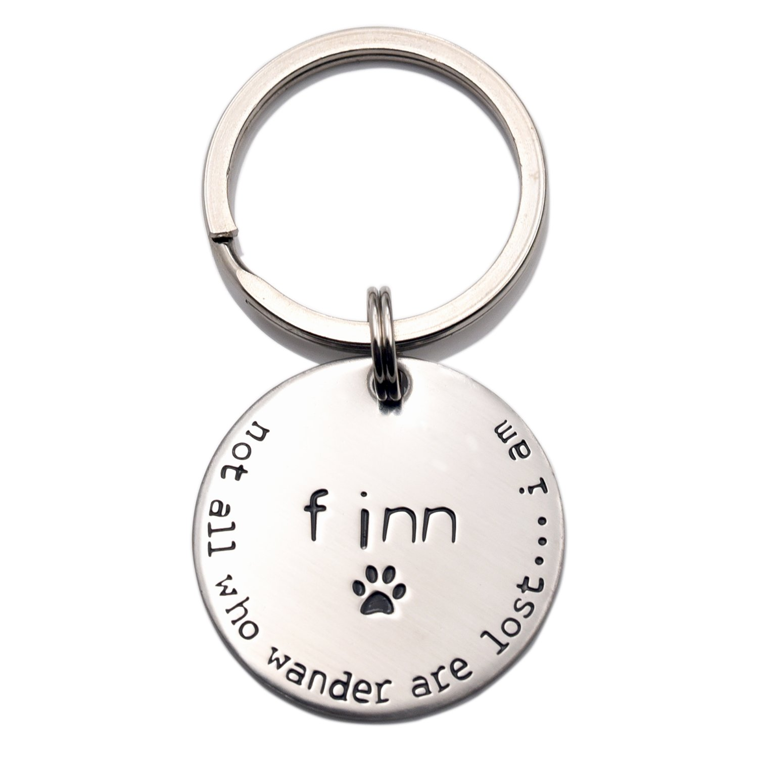Dog ID Tag, Not All Who Wander Are Lost.... I Am LParkin Dog ID Tag