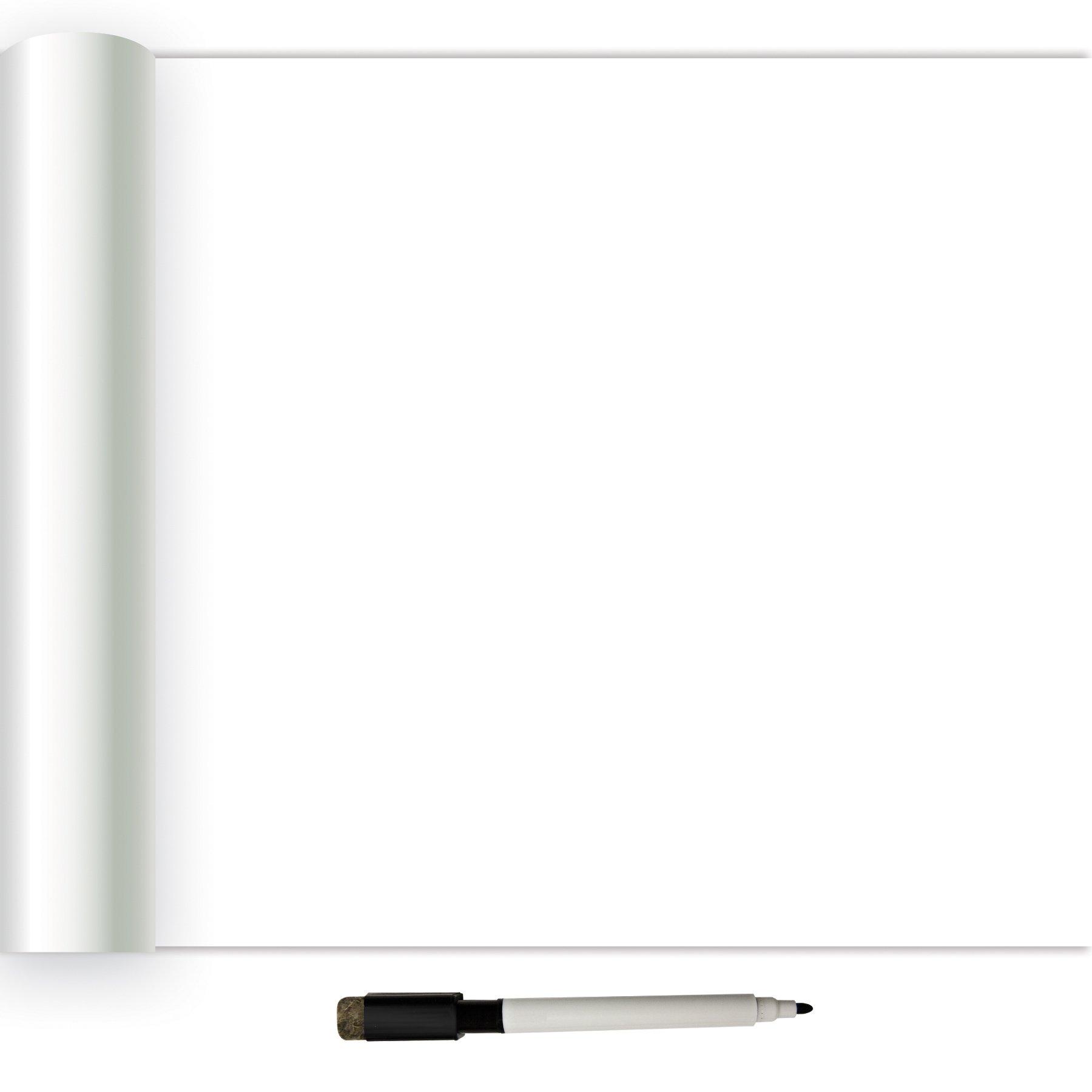 NuWallpaper NU2497 Dry Erase Peel & Stick Wallpaper, White