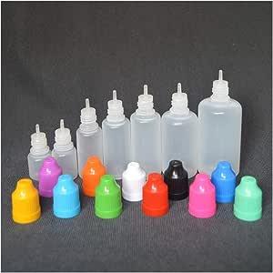 10Pcs 3/5/10/15/20/30/50/100/120ml Empty Plastic Squeezable Dropper Bottle Eye Liquid Dropper Sample Eyes Drop Refillable Bottle (Color : Light Blue, Size : 3ml)