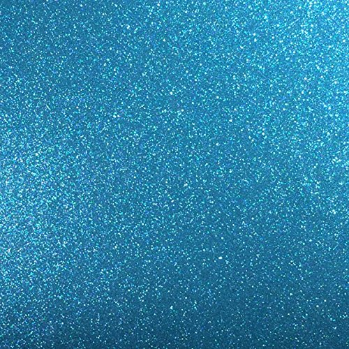 Sky Blue Glitter Vinyl 12 by 15 FEET Transparent Glitter Adhesive Roll - for Cricut, Silhouette Cameo, Craft Cutters, and Die Cutters by StyleTech (Sky Blue Glitter)