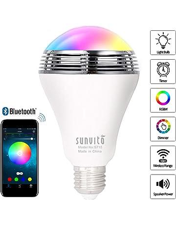 Sunvito Bombilla de LED Inteligente con Bluetooth 4.0 Altavoz,Playbulb de Música LED E27 Bombilla