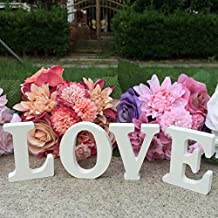 Wooden White LOVE Letters Signs for Weding / Home / Party Table DIY Decor