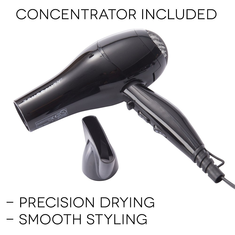 Amazon.com: Tru Beauty Ionic Pro Luxe Hair Dryer, Ion Generated Technology, Lightweight, Professional Hair Styling and Fast Drying Pearlized Black: Beauty