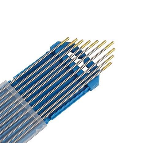 PRO 10 x Wolframelektroden Wolfram Elektroden WIG Nadeln WL15 Gold 2,4Ø x 175 mm