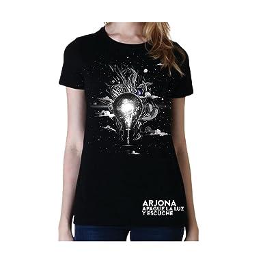 Amazon.com: Ricardo Arjona Merch Womens T-Shirt APAGUE LA LUZ Y ESCUCHE Camiseta de Mujer: Clothing