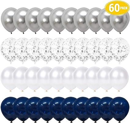 Amazon.com: Globos de confeti LAKIND, color azul marino y ...