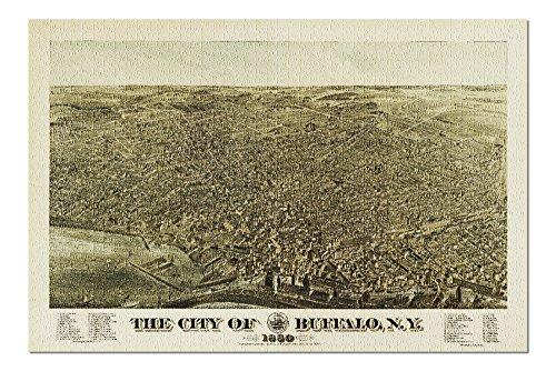 Buffalo, New York - (1880) - Panoramic Map (20x30 Premium 1000 Piece Jigsaw Puzzle, Made in USA!)