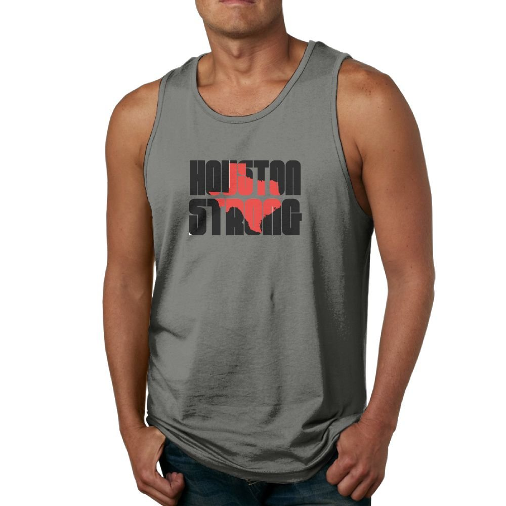 NRYDYMM Mens Tank Top Houston Strong Exercise Tank 100/% Cotton Bodybuilding Vest