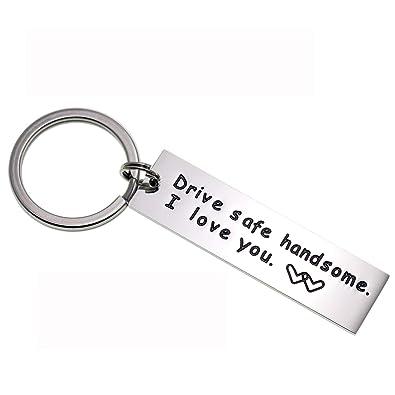 LParkin Drive Safe Keychain Handsome I Love You Trucker Husband Gift for  Husband dad Gift Valentines 1f31168a4e