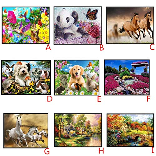 DIY 5D Diamond Painting Dartphew by Number Kits, Crystal Rhinestone Embroidery Pictures Arts Craft for Home Wall Decor - Lovely Dogs Cats Horses Animals - Reduces Eye Strain by Dartphew DIY 5D Diamond Painting (Image #2)