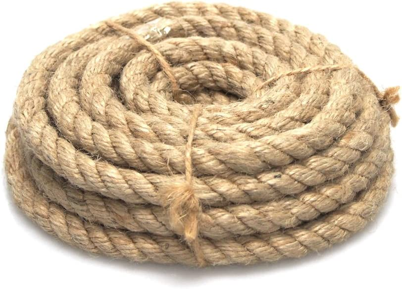 Homeford Firefly Imports Natural Jute Fibre Rope, 10mm, 5 Yards