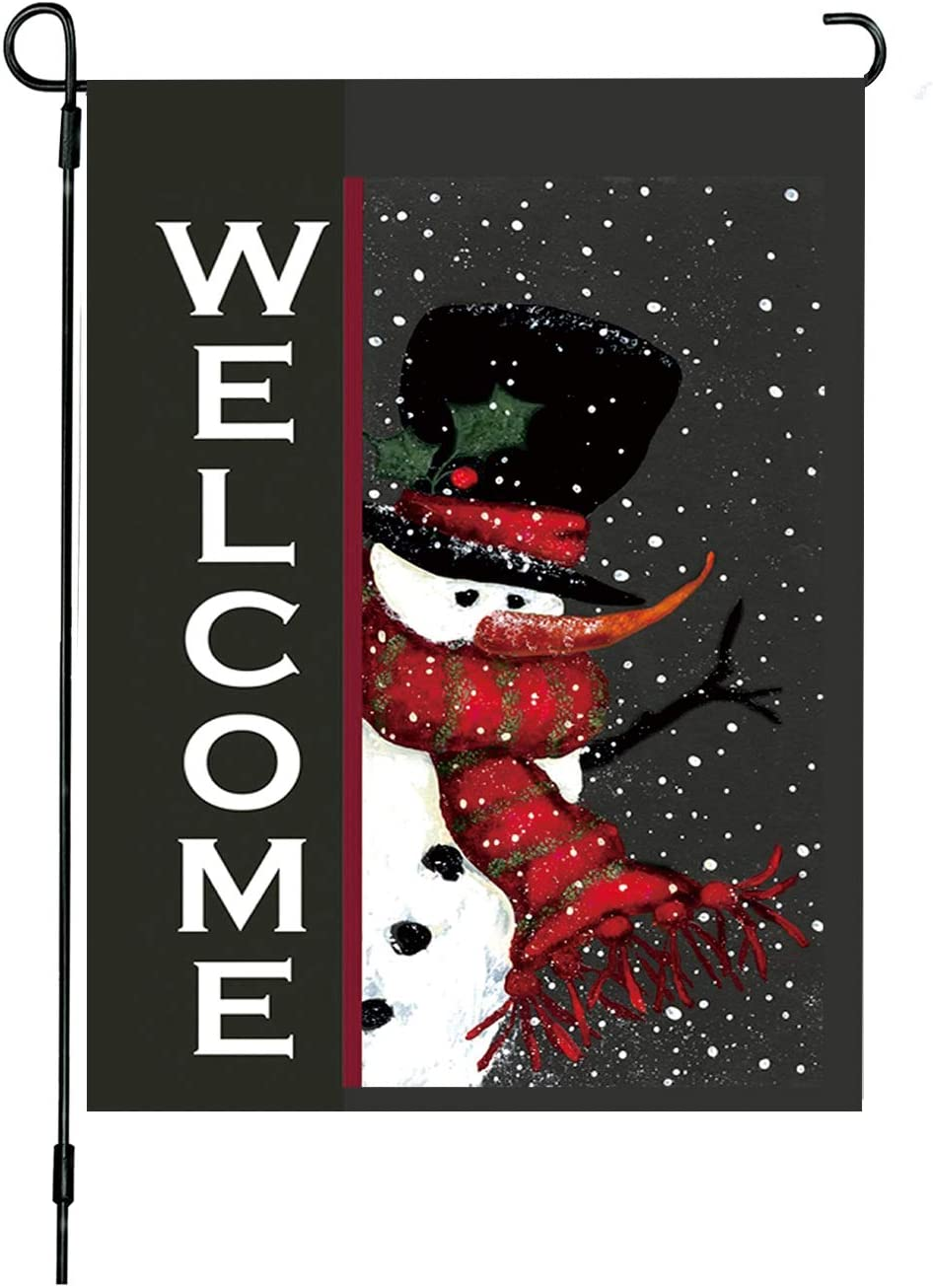 YINBANGKE Christmas Garden Flag,12X18 Inches Vertical Double Sided Outdoor Flag,Santa Claus,Holiday Indoor Outdoor,Party Home Christmas Decorations